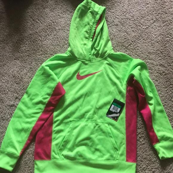 NIKE HOODIE Therma Fit Neon Green & Pink